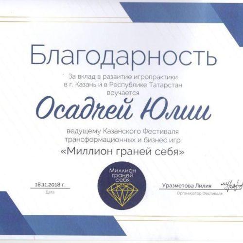 Внесение вклада в развитие игропрактики в г. Казань и Республике Татарстан